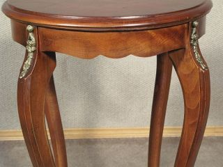 Vintage Mahogany Occasional Round Side End Table