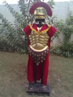 Roman Musculata Centurion Greek Armour Costume Brass