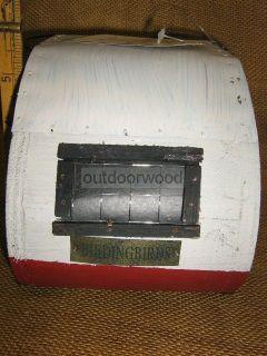 Barnstorm Vintage Reto Look Teardrop camper Bird House New Primitive Rustic