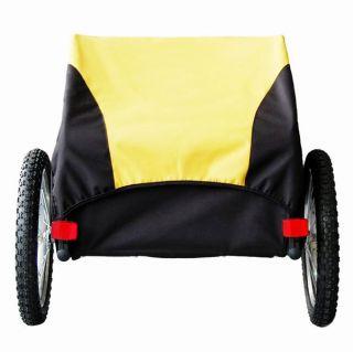 Veela Bicycle Cargo Trailer Bike Shopping Picnic Carrier in Yellow Black 2021701