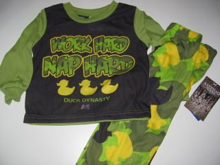 Duck Dynasty Toddler Boys 2T 3T 4T 5T PJs Set Pajamas Shirt Pants