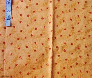 2 yd Gold Stars Novelty Print Cotton Fabric 'Color My World' Fabri Quilt