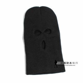 Men Warm Full Face Cover 3 Holes Knit Winter Ski CS Mask Balaclava Hats Cap