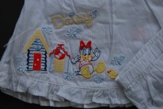 Disney White Daisy Duck 2pc Dress Knicker Set Baby