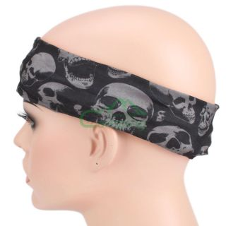 New Skull Multi Functional Head Wear Magic Turban Adsorption Perspiration C914
