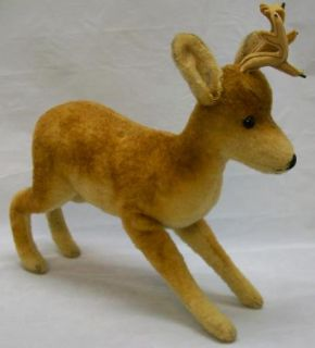 Older Large Steiff Deer Roebuck Mohair Germany Large Size with Button Vintage