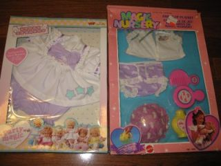 Vintage 90s Ideal Nursery Magic Nursery Baby Doll Outfits Fashions Clothes New