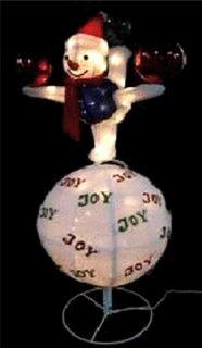"""54"""" Lighted Animated Snowman Christmas Yard Art Decor"""