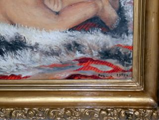 1898 Antique Russian Imperial Oil Painting Signed Art