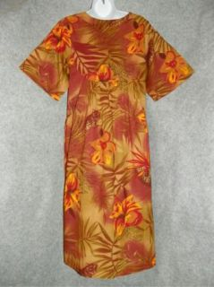 Sante Classics Womens Floral Lounge Dress Size Medium