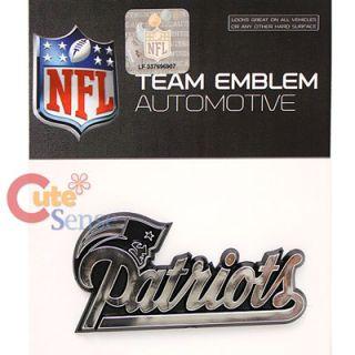 NFL New England Patriot Team Logo Auto Car Emblem Auto Accessories Chrome Finish