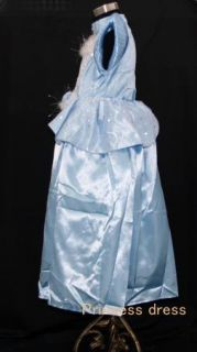 Halloween Girls Deluxe Cinderella Costume Princess Birthday Party Dress 6 8Y