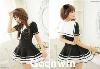 Japan Sexy School Girl Sailor Costume Cosplay Uniform Dress SUF5