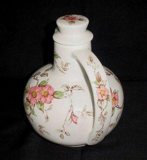 Gorgeous Vintage Nasco 'Springtime' Lovely Pink Flowers Tea Jug Pitcher Decanter