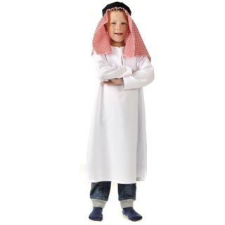 Boys Kids Childrens Arab Man Shepherd Inn Keeper Fancy Dress Nativity Costume