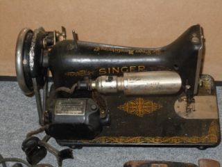 Vintage 1950's Singer Sewing Machine Model 1 w Accessories Foot Pedal Parts