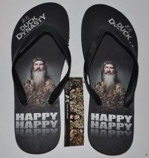 New Duck Dynasty Sandals Flip Flops Size Large 11 12 Phil Happy Commander Mens
