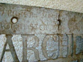 Wonderful Antique Cast Iron Archer Barber Chair Foot Rest 1886