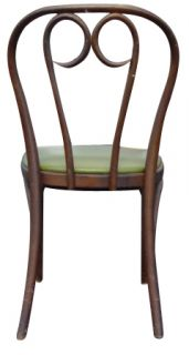 1 Vintage Thonet Bentwood Dining Side Chair Olive Seat