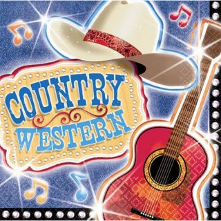 Country Western Theme Luncheon Party Napkins 16ct Party Supplies