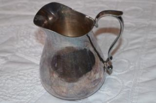 JB Reed Barton Antique Vintage Creamer Water Silver Plated Pitcher 967