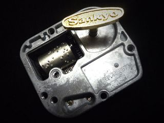 Silver 18 Note Musical Movement for Music Box Many Song