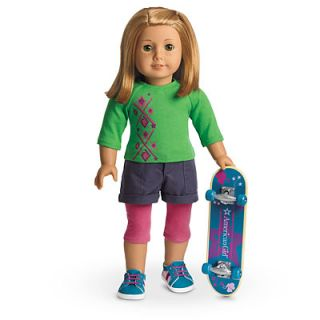 New in Box My American Girl MYAG Skateboard Set Outfit for Dolls Charm