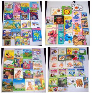 Lot 76 Toddler Board Books Animals Clifford Elmo Disney Baby Ben Einstein