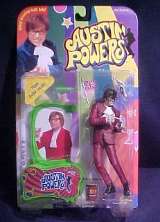"Austin Powers ""Ya Baby Ya "" Red McFarlane Figure 1999 Mint on Card Green"