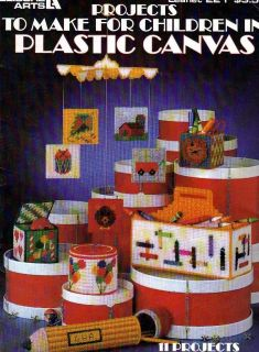 Plastic Canvas Pattern Booklet Projects for Children