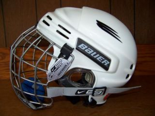 Bauer Youth Small Padded Ice Hockey Helmet Mask Cage White HH 5000 s Safety