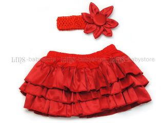Baby Girl Pink Red Ruffle Pant Blommers Nappy Cover Skirt 0 3 Yr