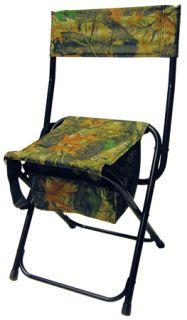 Gorilla Hi Back Hunting Chair w Storage Mossy Oak Camo Turkey Deer Blind Seat
