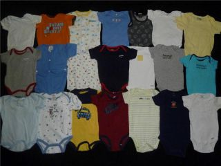 Baby Boy Newborn 6 9 Months One Piece T Shirt Clothes Lot
