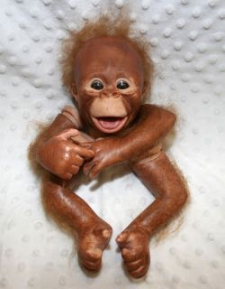 Complete Reborn Binki Orangutan Doll Kit Already Painted Rooted Just Assemble