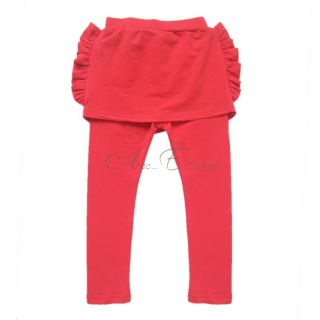 Girls Slim Casual Leggings Tight Pants Kids Culottes Trousers Candy Color Sz 2 7