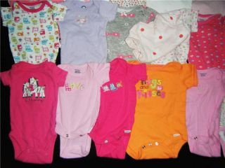 Lot Baby Girl Newborn NB 0 3 3 6 Months One Piece T Shirt Clothes 0 3 M NB 0 3M