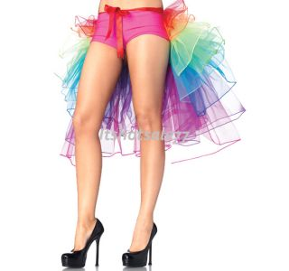 Sexy Colorful 8 Layer Rainbow Tulle Dress Bouffant Tail Burlesque Skirt New ITS7