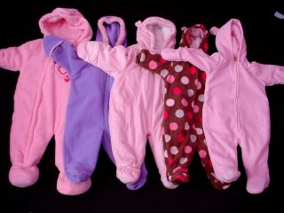 Baby Girl Outerwear Snow Suit Clothes 3 6 Months Fall Winter Clothes Lot