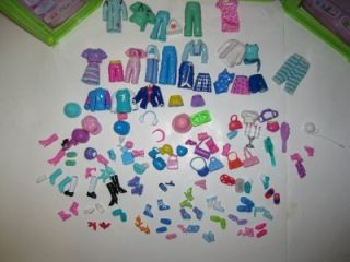 Polly Pocket Storage Case Clothes Shoes Accessories Xmas Toy Lot See All Pics