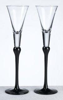 Black Wedding Toasting Wine Champagne Flutes Glasses Glassware