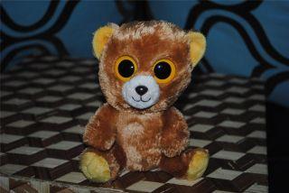 Bright Eyes Big Eyes Brown Honey Teddy Bear Plush Ty Beanie Baby Lovey Cute