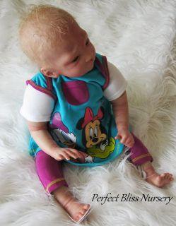 "Reborn Doll Baby Girl Laura Lee Eagles ""Sweet Pea Awake"""
