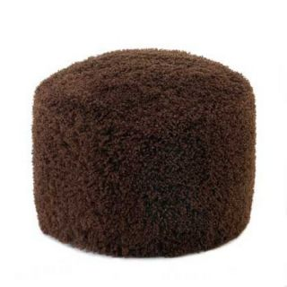 Chestnut Ottoman Pouf Brown Footstool Living Room Decor New