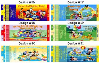 Mickey Mouse Clubhouse Minnie Birthday Party Ticket Invitations Supplies Favors