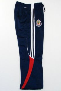 Adidas ClimaLite MLS Chivas USA Soccer Team Navy Blue Track Pants Mens