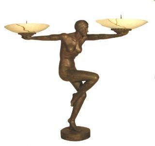 Cast Bronze Deco Lady Lamp MGSRB83143