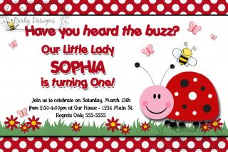 Little Ladybug Lady Bug Birthday Party Invitations Supplies Favors