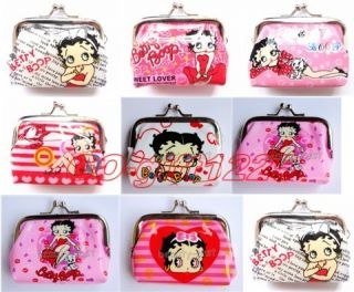 Lot 100pc Betty Boop Round Purses Coin Wallet Party Favours Christmas Gift