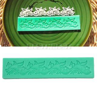Classics Fondant Cake Decorating Baking Tool Lace Shaped Silicone Mold Mould